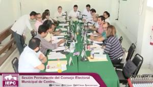 sesion permanete electoral municipal centro elecciones extraordinarias